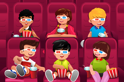 clipart movie watching