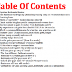 bathmate video table of contents