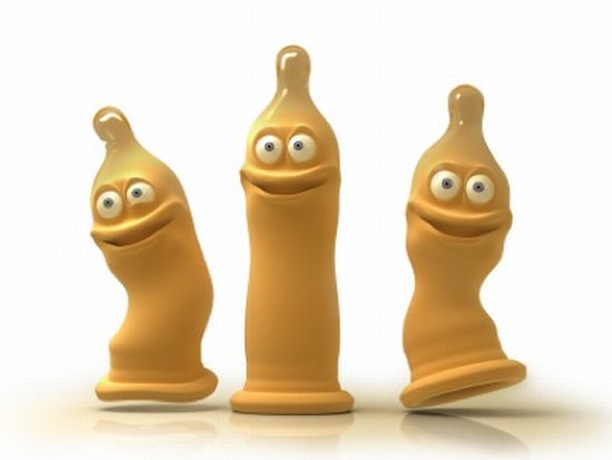 3 Cartoon Condoms