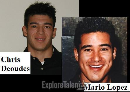 Chris as Mario Lopez