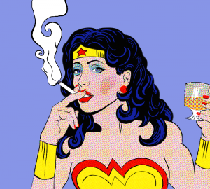 wonder_woman_smoking_and_drinking_by_panlepan-d5v4duj