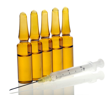 Ampoules and Syringe