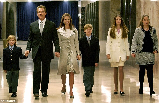 Arnold Schwarzenegger and family.
