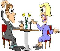 Guy and Girl on a Date Cartoon