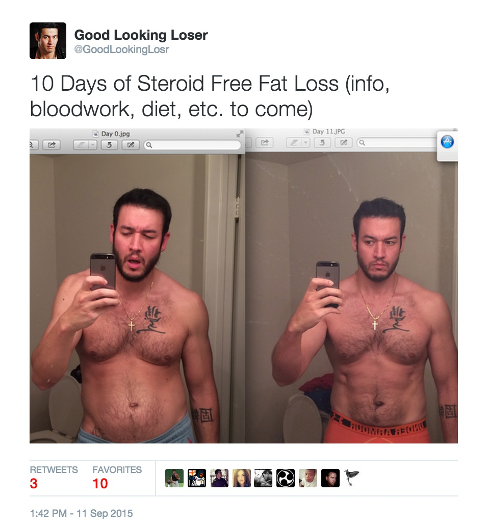 10 days of fat loss twitter
