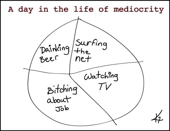 A day in the life of Mediocrity