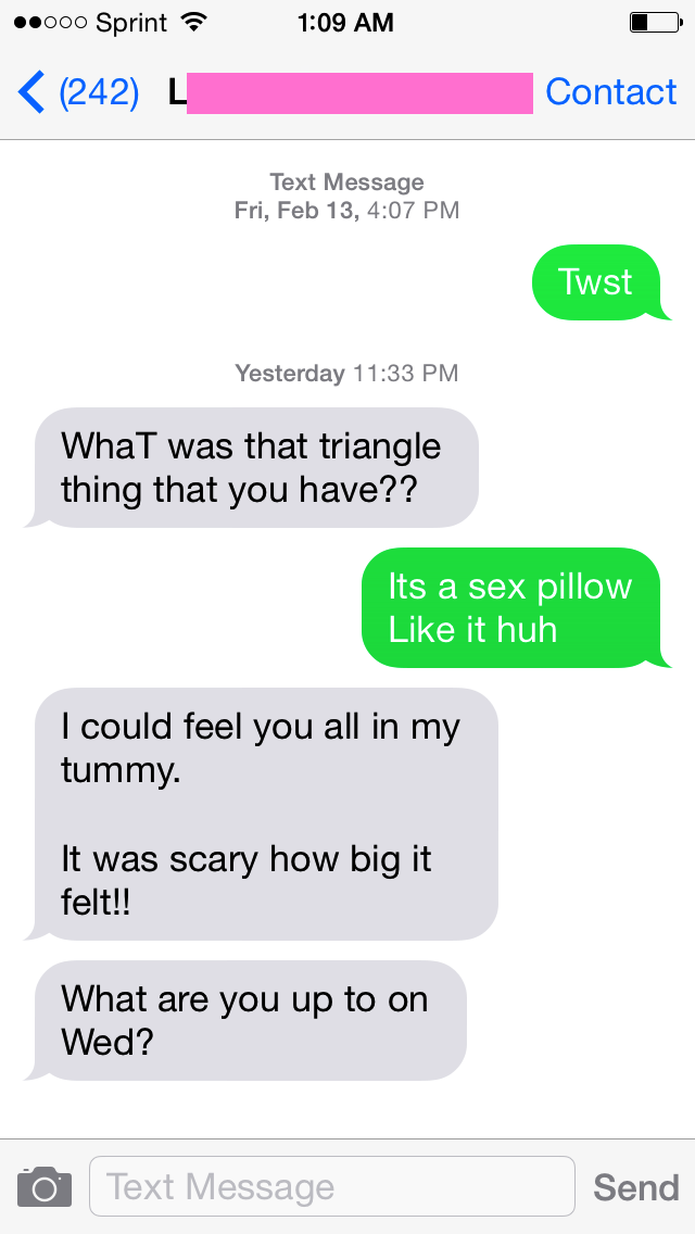 sex pillow text