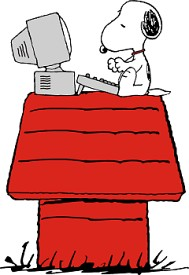 snoopy working
