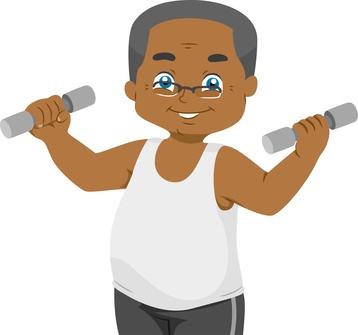 old black guy clipart