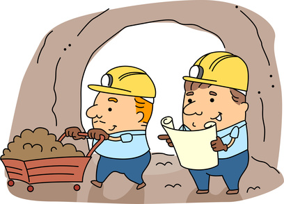 cartoon miners