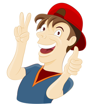 happy guy clipart