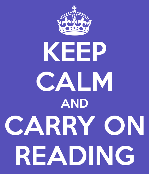 keep calm and reading