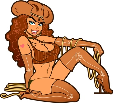 clipart hot cowgirl