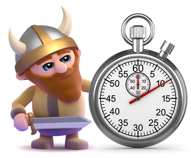 Viking times the event with his stopwatch