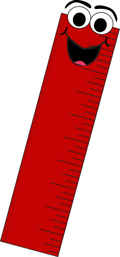 cartoon red ruler smiling