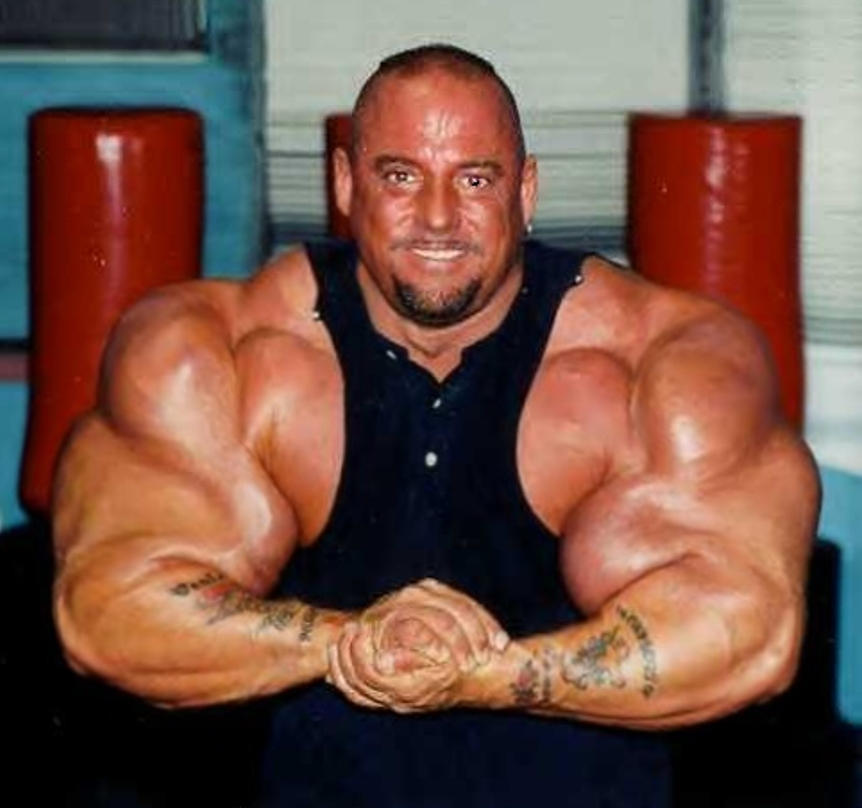 His arms are the result of SYNTHOL use - not anabolic steroids.