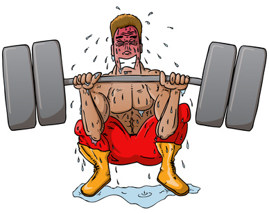 Work out sweat character