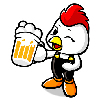 Drinking Beer Bhicken Character